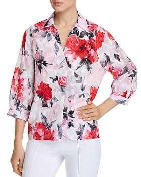 KARL LAGERFELD Paris - Floral-Print Button-Back Top