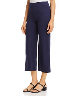Lyssé - Slit Wide-Leg Cropped Pants