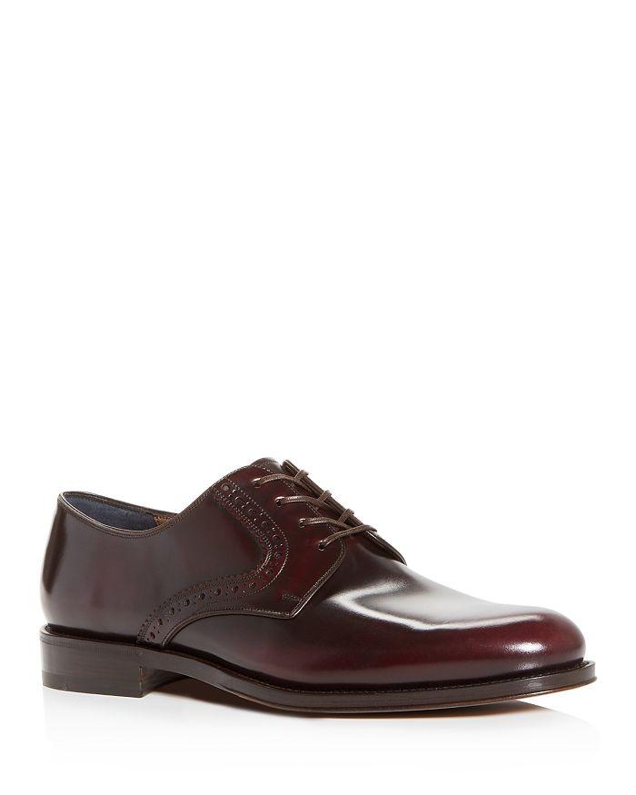 Salvatore Ferragamo - Men's Tiberio Leather Plain-Toe Oxfords