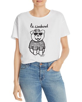 FRENCH CONNECTION - Linosa Cropped Graphic Tee