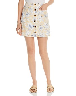 Lost and Wander - Luci Floral-Print Mini Skirt