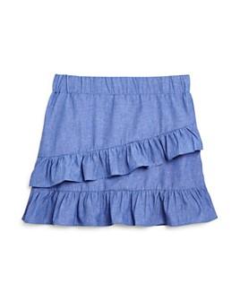 Mini Series - Girls' Chambray Ruffle Skirt, Little Kid - 100% Exclusive