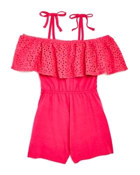 Mini Series - Girls' Flamingo Romper, Little Kid - 100% Exclusive