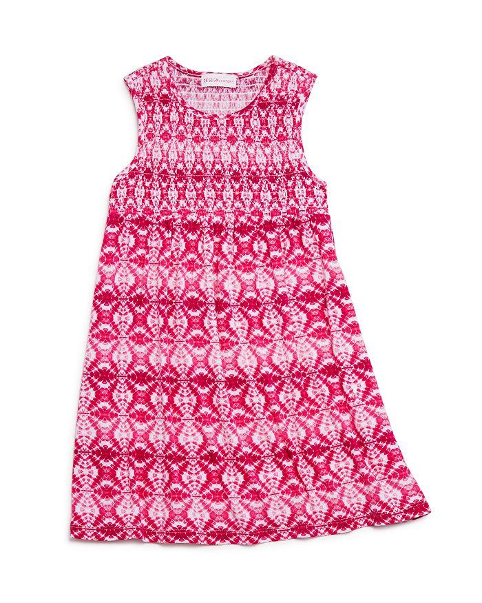 Design History - Girls' Smocked Tie-Dyed Dress - Little Kid
