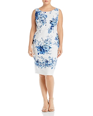 Marina Rinaldi Dativo Convertible Floral-Print Sheath Dress