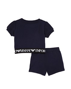 Armani - Girls' Logo-Band Fleece Top & Shorts Set - Little Kid, Big Kid