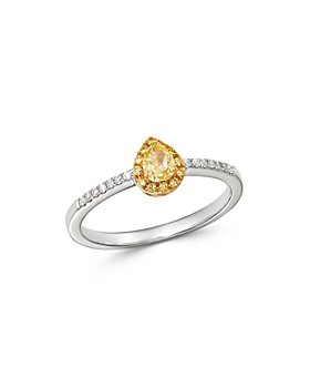 Bloomingdale's - Yellow & White Diamond Ring in 14K Yellow & White Gold - 100% Exclusive