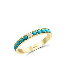 Bloomingdale's - Turquoise & Diamond Band in 14K Yellow Gold - 100% Exclusive