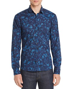 HUGO - Ero Floral-Print Slim Fit Shirt