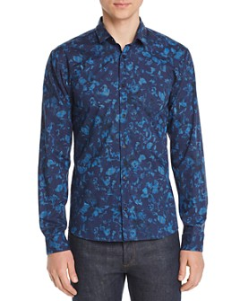 HUGO - Ero Floral-Print Slim Fit Shirt