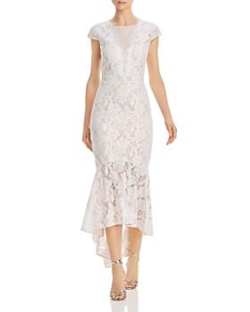 AQUA - Fluted Lace Dress - 100% Exclusive
