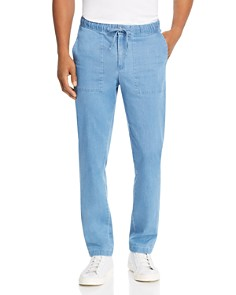 Michael Kors - Chambray Slim Fit Pants - 100% Exclusive