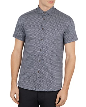Ted Baker - Gooslin Geo Print Slim Fit Shirt