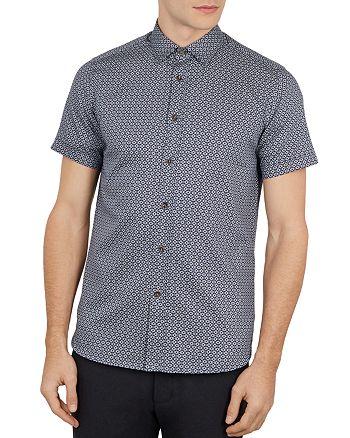 Ted Baker - Gooslin Geo Print Slim Fit Shirt