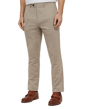 716853884 Ted Baker - Balrtro Herringbone Slim Fit Trousers ...