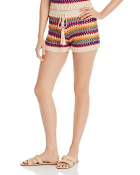 75403a288097a AQUA - Rainbow-Stripe Crochet Shorts - 100% Exclusive ...