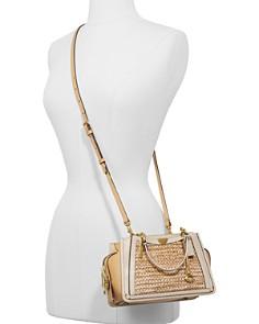 COACH - Dreamer Medium Straw & Leather Shoulder Bag