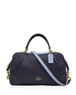 COACH - Lane Medium Polished Pebble Leather Satchel