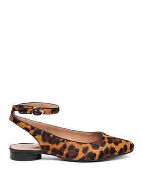 Bernardo - Women's Ellie Leopard Print Calf Hair Flats