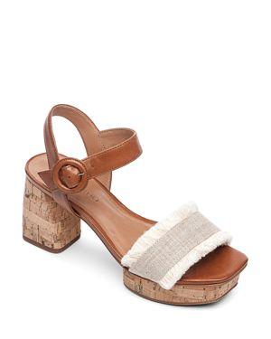 BERNARDO | Bernardo Women's Reagan Fringe Block-Heel Platform Sandals | Goxip