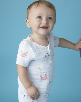 Angel Dear - Boys' Little Fishies Shortall - Baby