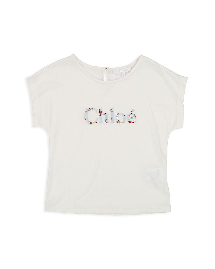 Chloé - Girls' Floral-Logo Tee - Little Kid, Big Kid