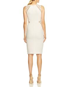 HALSTON HERITAGE - Lace-Inset Dress