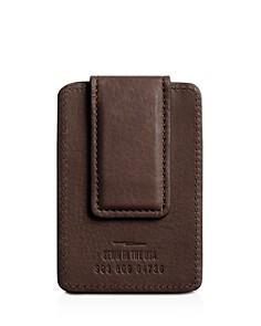 Shinola - Signature Leather Magnetic Money Clip Card Case