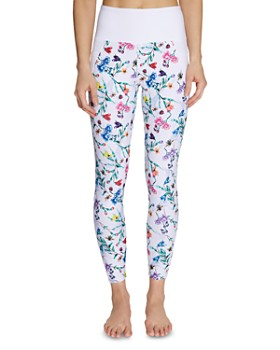 Betsey Johnson - High-Rise Botanical Leggings