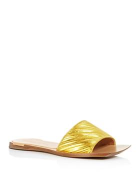 Bottega Veneta -  Women's Square Toe Slide Sandals