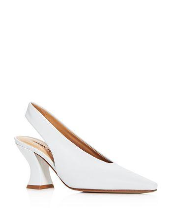 Bottega Veneta - Women's Almond-Toe Slingback Pumps