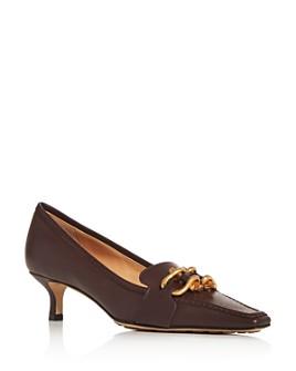 Bottega Veneta - Women's Square Toe Kitten-Heel Loafers