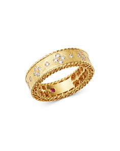 Roberto Coin - 18K Yellow Gold Princess Diamond Round Ring