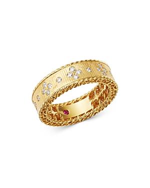 Roberto Coin 18K Yellow Gold Princess Diamond Round Ring