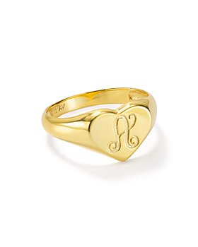 Argento Vivo - Signet Ring in 18K Gold-Plated Sterling Silver