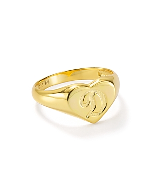 Signet Ring in 18K Gold-Plated Sterling Silver