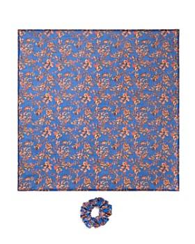 Chan Luu - Two-Piece Floral Scrunchie