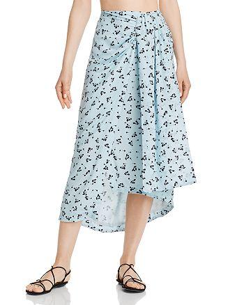 Paper London - Siren Printed-Silk Skirt