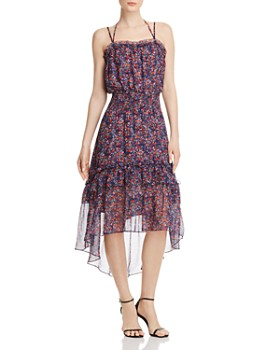 Parker - Amethyst Floral Silk Dress