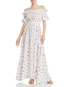 All Things Mochi - Nana Off-the-Shoulder Maxi Dress
