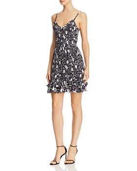 LIKELY - Misha Zephra Smocked Floral Mini Dress