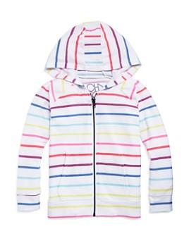 CHASER - Girls' Striped Zip-Up Hoodie - Little Kid, Big Kid