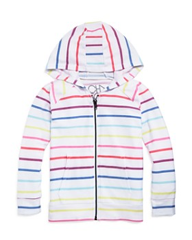 CHASER - Girls' Striped Zip-Up Hoodie - Little Kid, Big Kid