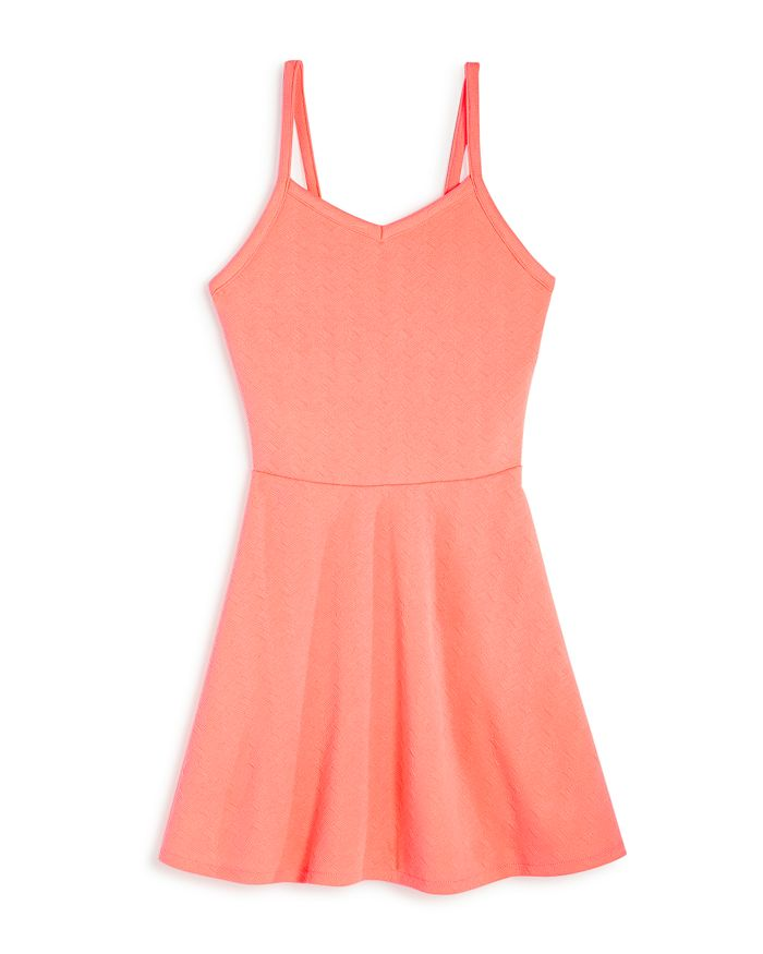 AQUA - Girls' Textured Neon Dress, Big Kid - 100% Exclusive