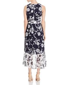 Eliza J - Color-Blocked Floral Dress