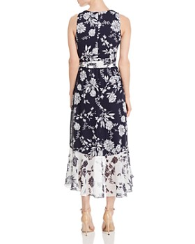 Eliza J - Color-Blocked Floral Dress