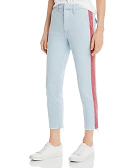 MOTHER - The Shaker Side-Stripe Cropped Pants