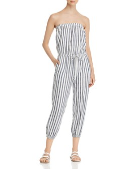 Elan - Strapless Striped Jumpsuit