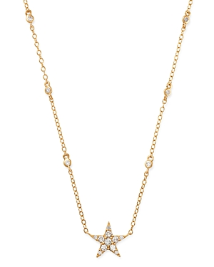 Bloomingdale's Diamond Star Pendant Necklace in 14K Yellow Gold, 0.30 ct. t.w. - 100% Exclusive