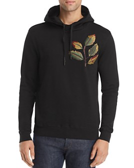 Antony Morato - Leaf-Embroidered Hooded Fleece Sweatshirt